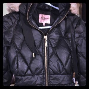 Juicy Couture down ruffled jacket